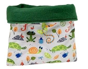 Reptile bag, reptile bed, gecko cave, reptile cave, anole cave, amphibian bag, reptile sack, snake bag