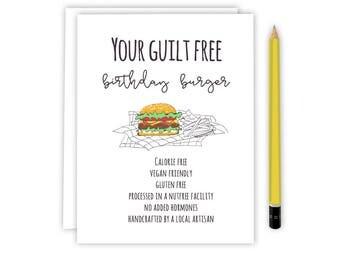 Friend Birthday Card - Birthday Burger - Birthday Card - 03-BB Birthday Burger