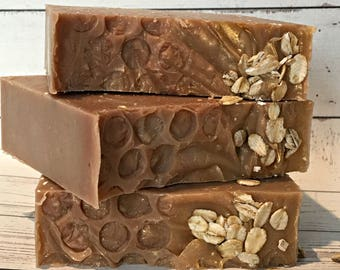 Goats Milk Soap - Homemade Soap - Goats Milk, Oatmeal, and Honey Soap - Natural Soap Bars - Fresh Soap - Cold Process Soap Bars