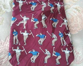 Golfer  men's necktie