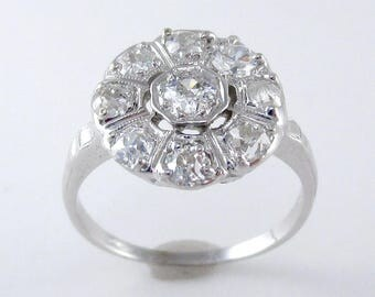 Antique Old Mine and European Cut Diamond Ring