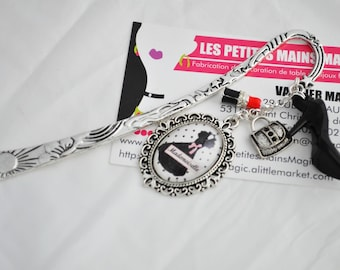 """Silver chic bookmark """"mademoiselle"""""""