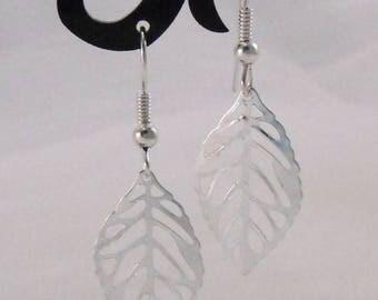 Simple leaves Silver earrings