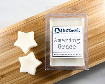 Wax|Melts Wax|Tarts Soy Wax Melts Vegan Wax Melts Candle Melts Wax Cubes Flameless Candles Vegan Amazing Grace Wax Melts