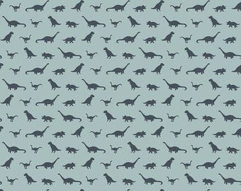 Fossil Rim by Riley Blake - Tiny Dino Blue - Cotton Woven Fabric