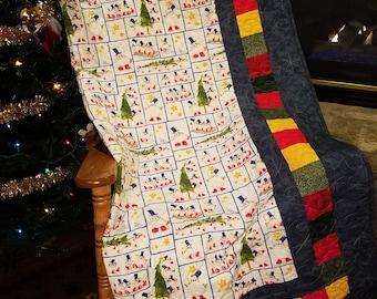 Kids christmas quilt | Etsy : kids christmas quilts - Adamdwight.com