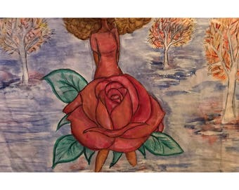 Flower Girl (watercolor print)