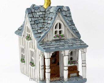 Cottage Farm House for Miniature Garden, Fairy Garden