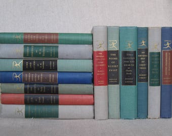 Vintage Modern Library Book Bundle, Set of Thirteen Classic Books, Decorative Collection