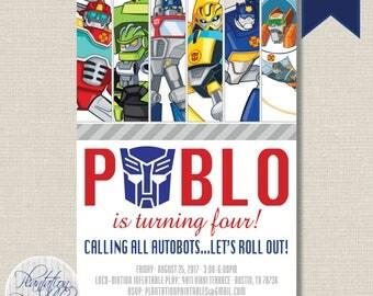 Transformers Rescue Bots Birthday Invitation - Digital File, You Print