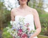 Collier mariage bijou épaules, perles cristaux de Swarovski, collier chaîne, bijou de corps - crystal shoulder chain, wedding body ornament