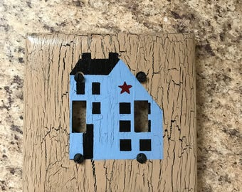 Primitive saltbox house switch covers