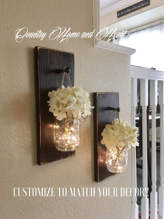 Home Decor Mason Jar Sconces Farmhouse Wall