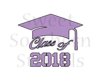 Class of 2018 #5 Cookie Stencil