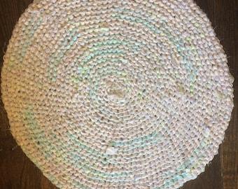 28 inch Pastel Rag Rug