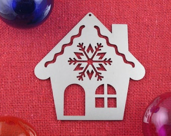 Gingerbread House Christmas Ornament, Stainless Steel, Christmas Ornaments, Christmas Decoration, Tree Ornament, Christmas Decor, Ornament