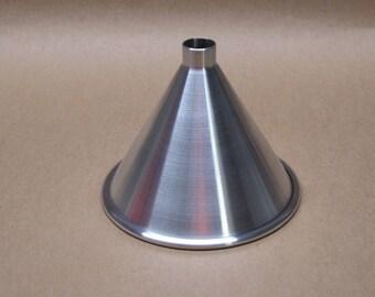 Aluminum Funnel Seamless Hand Spun, Medium Size, Handmade, New, Metal Spinning,