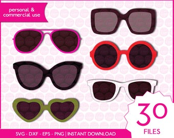 SUNGLASSES | svg - dxf - eps - png | digital cutting files for cutting machines | clipart | vector files