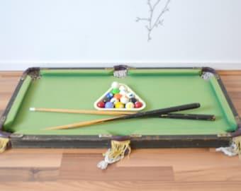 Vintage wooden toy billiards game
