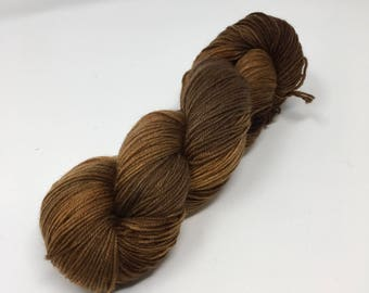 Oak Indie Dyed Yarn on Merino cashmere Nylon MCN brown  tonal