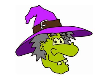 SVG Halloween Green Witch,SVG files,svg witch,svg instant downloads,svg files,halloween svg downloads,witch halloween svg files,svg
