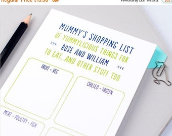 SUMMER SALE Shopping List - Shopping Pad  - Grocery List - List Note Pad - To Get Pad - Grocery Shopping Notepad - personalised