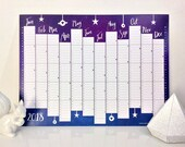 Twilight wall planner year 2018 calendar, digitally printed, available in A3 or A2