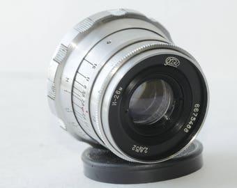 Industar-26m 2.8/52mm lens m39 ltm FED Zorki Leica 35mm RF camera NEX #6675488