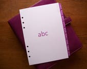A5 Size AZ Address DIVIDERS Fuchsia 705  Fits FILOFAX  9 Tabs