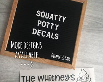 Squatty Potty Decals | Funny Bathroom Humor | Keeping Sh!t Real | Coffee Equals Poop | Custom Designs Available