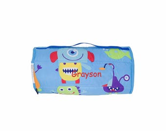 Personalized Toddler & Preschool Microfiber Nap Mats - Monsters