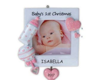 Personalized Lovely Hearts Baby's First Christmas Ornament