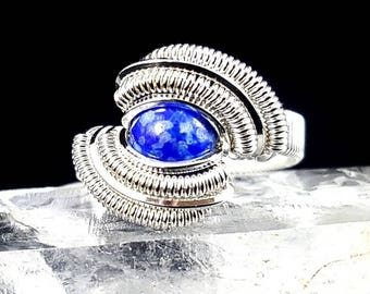 Lapis wire ring