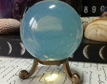 Opalite Crystal Sphere - Hand Polished Crystal Ball - Crystal Gift - Crystal Grids - Terrariums - Crystal Crafts - OP5