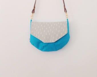 Round bag with flap - handbag