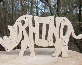 Rhinoceros  ornament, rhino gift,  gift for rhino lover, home decor, wooden rhino,