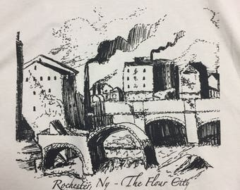 The Flour City Rochester NY mill sketch t-shirt, long sleeve tee and sweatshirt