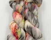 Hand Dyed Yarn - Enola Gay - Sock Yarn - 4 ply (Fingering)