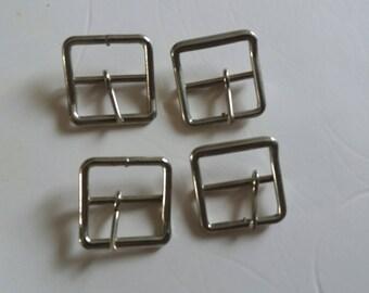 boucles métal avec ardillon ceinture ou sac  métal nickelé carré