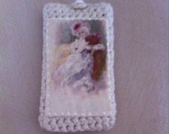 Cover pouch crocheted transfer image phone case