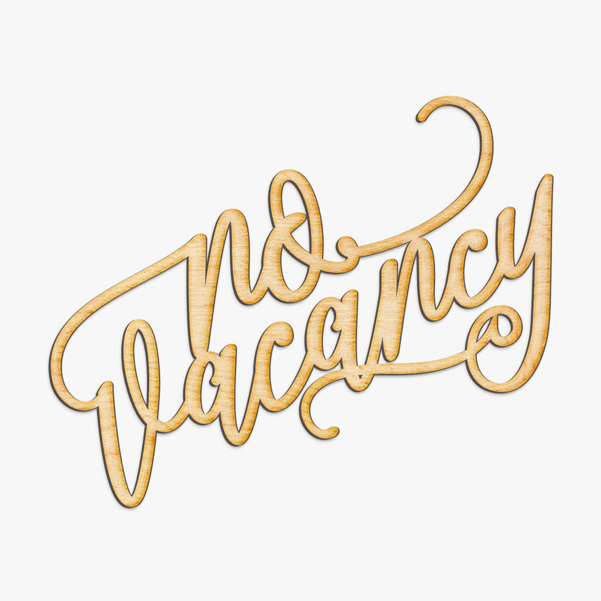 No Vacancy Wood Sign - Laser Cut Sign, Wood Sign Wall Decor ...