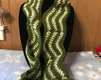 Crocheted Scarf in Green