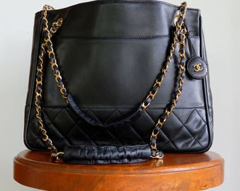 Authentic Chanel Quilted Tote Bag