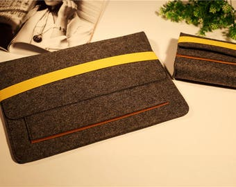 """12"""" Macbook Sleeve and Charger Cable Case , Macbook air sleeve , Macbook air sleeve 11 , Macbook air 11 #263"""