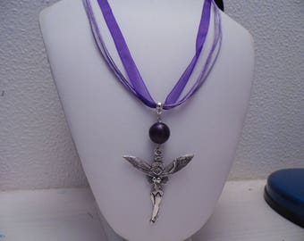 Purple organza necklace and her fairy