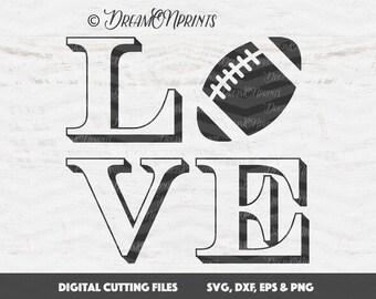 Love Football Svg, Football Svg, Love SVG, Sports Svg Football Cut Files, Silhouette Cameo SVG, Cricut Cut Files SVDP296