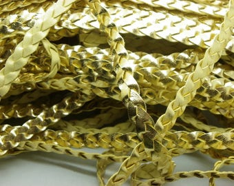 2 m gold braid synthetic braid gold mat to garnish your creations