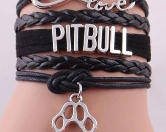 Love Pitbull Adjustable Wrap Bracelet