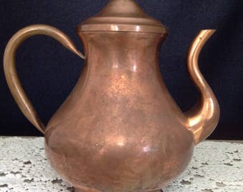 Copper Coffee Pot Copper Tea Pot Vintage Coffee Pot Vintage Tea Pot Vintage Copper Farmhouse Decor