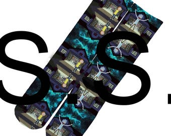 Crew Socks - Rick and Morty Craze ! Cartoon Comedy Science elites elite sock